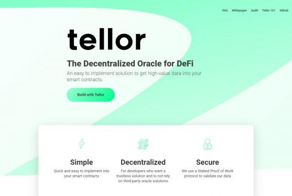 Tellor TRB Price Prediction Website