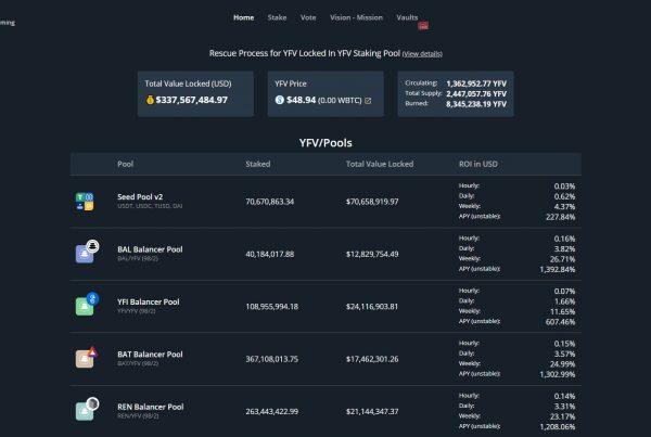 YFValue YFV Price Prediction Website