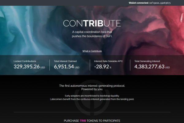 Contribute TRIB Price Prediction Website