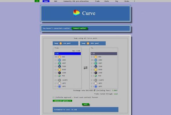 Curve CRV Price Prediction Website