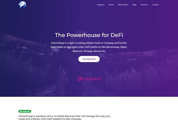 Falconswap FSW Price Prediction Website