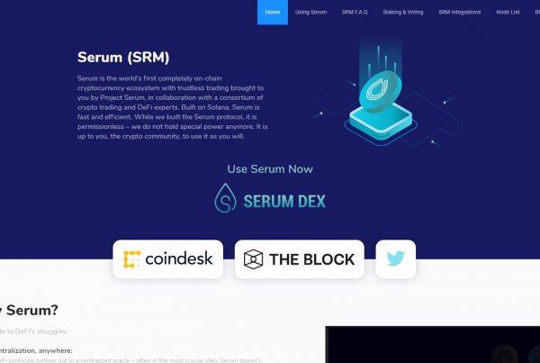 Serum SRM Price Prediction Website