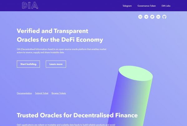 DIA price prediction website