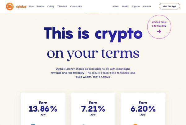 Celsius Network CEL Price Prediction Website