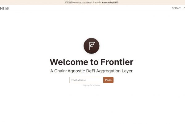 Frontier FRONT Price Prediction Website