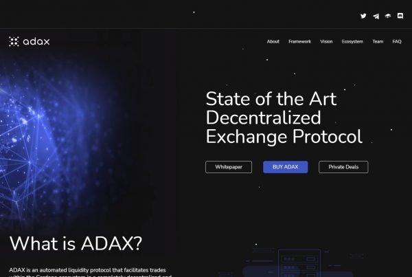 ADAX Price Prediction Website
