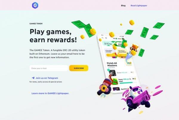 Gamee GMEE Price Prediction Website