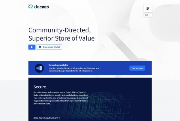 Decred DCR Price Prediction Website