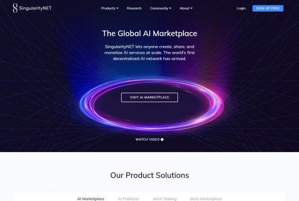SingularityNET AGIX Price Prediction Website